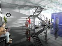 modernt kontor för korridor arkivbild
