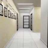 modernt kontor för korridor royaltyfri bild