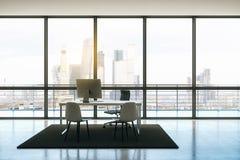Modernt kontor för takvåning stock illustrationer