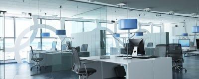 Modernt kontor i torn stock illustrationer