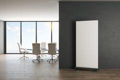 Modernt kontor med affischen vektor illustrationer