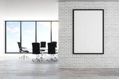 Modernt kontor med affischen stock illustrationer