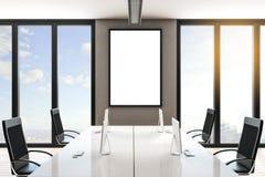 Modernt kontor med affischen royaltyfri illustrationer