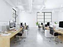 Modernt kontor med idérika utrymmen framförande 3d royaltyfri illustrationer