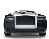 Modernt kritisera skottet för closeupen för den främre sikten för den lyxiga affären för grå färger det bil- vektor illustrationer