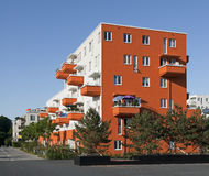 modernt lägenhetgermany hus Arkivbilder
