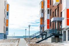 Modernt Mång--lägenhet kvarter Royaltyfri Fotografi