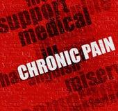 Modernt medicinbegrepp: Kroniskt smärta på röda Brickwall vektor illustrationer