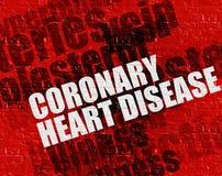 Modernt medicinskt begrepp: Koronar hjärtsjukdom på röda Brickwall royaltyfri illustrationer