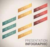 Modernt mjukt färgar designmallen/infographics Royaltyfri Fotografi
