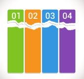 Modernt mjukt färgar designmallen/infographics Arkivfoton