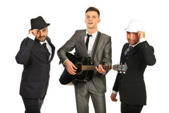 Modernt musikaliskt musikband Royaltyfri Foto