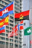 modernt nationellt olikt för byggnadsflagga Arkivfoto