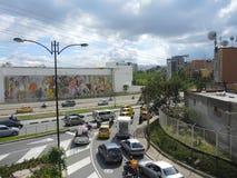 Modernt och kommersiellt område i Bucaramanga, Colombia. Royaltyfria Foton
