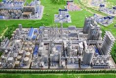 modernt oljeraffinaderi för fabrik Arkivbild