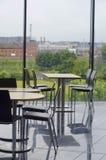 Modernt område för kontorsbyggnadkafeteriaplacering Fotografering för Bildbyråer