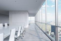 Modernt panorama- konferensrum royaltyfri bild