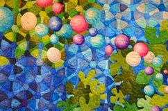 Modernt patchworktäcke arkivfoto