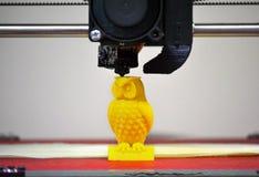 Modernt printingdiagram närbild för skrivare 3D Arkivbilder