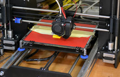 Modernt printingdiagram närbild för skrivare 3D Royaltyfria Foton