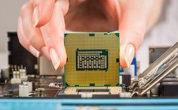 Modernt processor och moderkort Fotografering för Bildbyråer