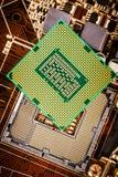 Modernt processor och moderkort Royaltyfri Bild