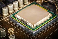 Modernt processor och moderkort Royaltyfria Bilder