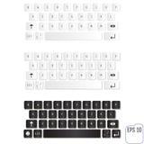 Modernt realistiskt tangentbord för smartphone- eller minnestavlaPC Royaltyfri Bild