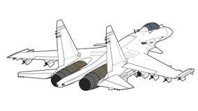 Modernt ryskt strålkämpeflygplan Arkivbilder