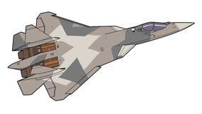 Modernt ryskt strålkämpeflygplan Royaltyfria Bilder
