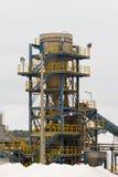Modernt salt raffinaderi Arkivfoto