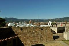 Modernt samtida konstutställning i Florence, Italien Arkivbild