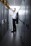 Modernt serverrum Arkivfoton
