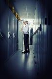 Modernt serverrum Fotografering för Bildbyråer