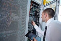 Modernt serverrum Royaltyfri Bild