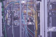Modernt serverrum för nätverk Royaltyfria Foton