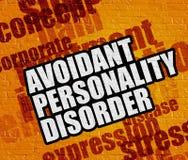 Modernt sjukvårdbegrepp: Avoidant personlighetsstörning på skrän vektor illustrationer
