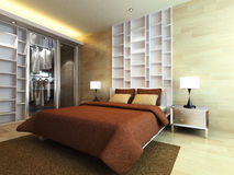 modernt sovrum Royaltyfria Foton
