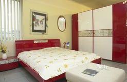 modernt sovrum arkivbilder