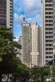 Modernt stadskvarter i mitten av Kuala Lumpur Fotografering för Bildbyråer