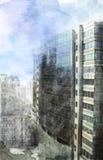 Modernt stadsutrymme Fotografering för Bildbyråer