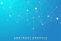 Modernt strukturmolekylDNA Atom Molekyl och kommunikationsbakgrund royaltyfri illustrationer