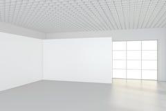 Modernt töm rum med den vita affischtavlan 3d framför Fotografering för Bildbyråer