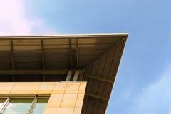 Modernt tak av en kontorsbyggnad Royaltyfria Bilder