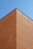 modernt tegelstenbyggnadshörn Fotografering för Bildbyråer