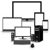 Modernt tehnology, apparater, uppsättning, vektor, illustration Arkivbilder