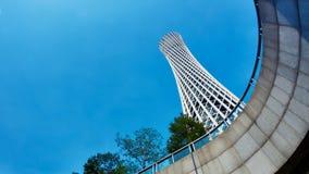 Modernt torn för byggnadskantonTV Arkivfoton