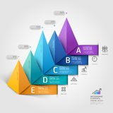 Modernt triangeldiagram för affär 3d. Fotografering för Bildbyråer