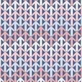 Modernt tryck med att gripa in i varandra pilar Abstrakt bakgrund för samtida med upprepade pekare Mjuk sömlös modell vektor illustrationer