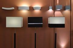 Modernt utforma belysning Arkivbild